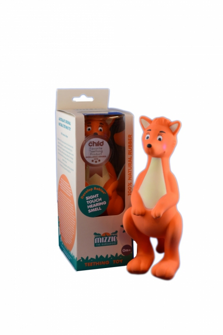 Mizzie the Kangaroo Baby Teething Toy